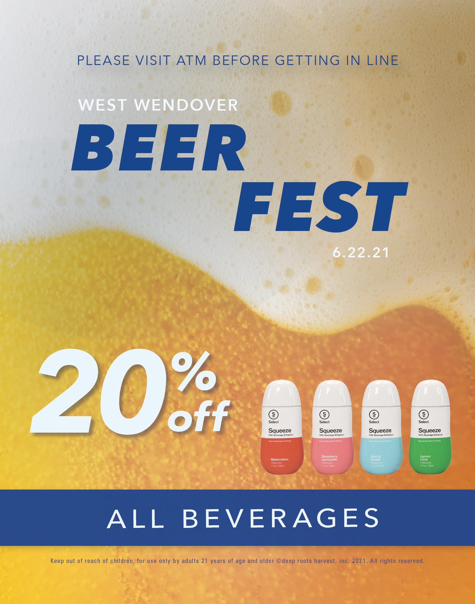west wendover beer fest. 20% off all beverages. Deep roots harvest.