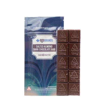 Salted Almond Dark Chocolate Bar